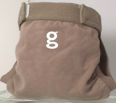 Gdiapers Small Groundhog Brown Gpants & Pouch Euc