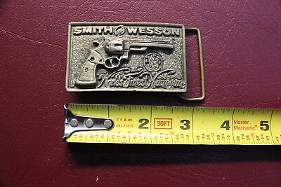 Smith and Wesson Pistol brass belt buckle