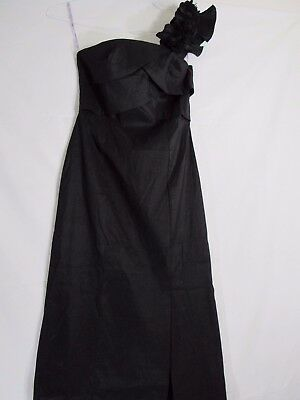 New Daisy Ladies Black Single Shoulder Prom and Formal Dress