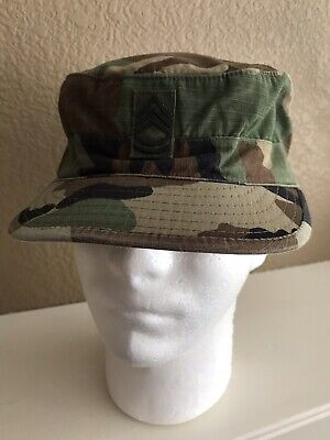 0b63754e5c3 Us Army Military Issue Woodland Camo Bdu Hot Weather Ripstop Patrol Cap 7  3 8