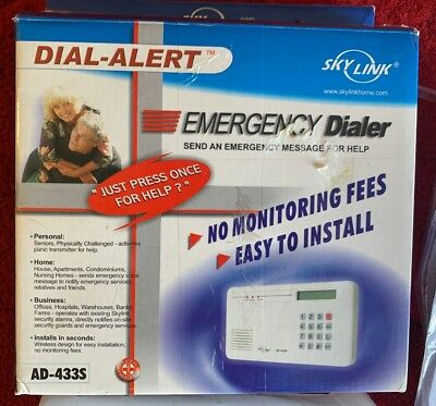 SkyLink Tech Dial-Alert Emergency Dialer No monitoring Fees Easy to Install