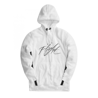 new concept dee8a 997e4 Nike Air Jordan Wings of Flight Sherpa Hoodie White   Black AH6250-100  Men s XL
