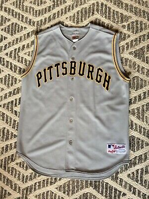 newest collection 69307 30a52 VINTAGE RAWLINGS PITTSBURGH Pirates Authentic Sleeveless Jersey Gray Size  48 XL