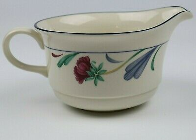 Lenox Chinastone Poppies on Blue Gravy Boat / Open Sauce Boat