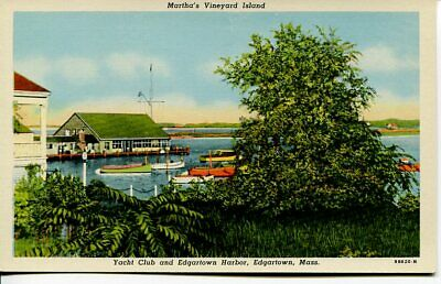 Postcard Yacht Club And Edgartown Harbor,Edgartown,Mass Martha's Vineyard Island