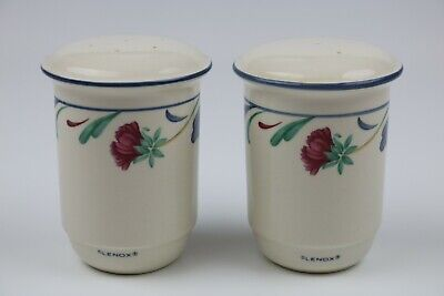 Lenox Chinastone Poppies on Blue Set of Salt & Pepper Shakers- Perfect!!
