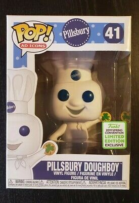 ECCC 2019 Exclusive Funko Pop Pillsbury Doughboy w/ Shamrock Cookie Ad Icons