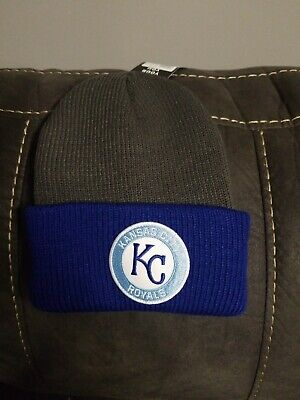 check out 23a12 37837 New MLB KC Kansas City Royals Baseball Knit Ski Hat Beanie Cap  47 Brand  Cuff