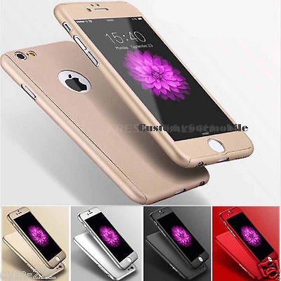 Iphone 6 6S+Hybrid Luxury Tempered Glass + Acrylic Cover Shell Shockproof