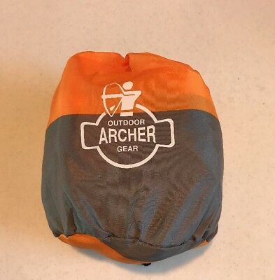 Outdoor Archer Gear Camping Hiking Sleeping Bag Air Inflation Pillow Orange