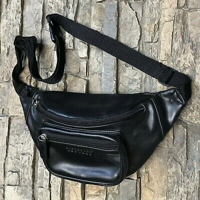 7537f19a2 VINTAGE EASTSPORT NEW York Faux Leather Fanny Pack Waist Hip Bag ...