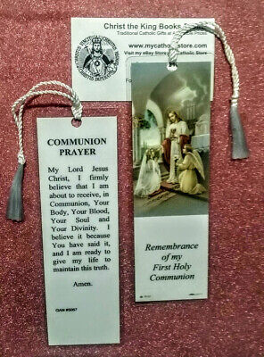 First Holy Communion Laminated Bookmark With Tassel For Girl