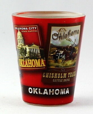 Oklahoma State Poster Art Shot Glass Rtp