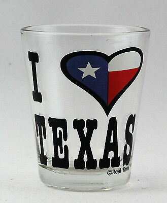 Texas I Love Texas Clear Shot Glass Rtp