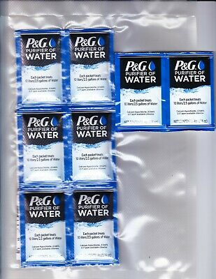 P&G Purifier of Water Packets 12-Pack Purification Powder Packs Vacuum Sealed