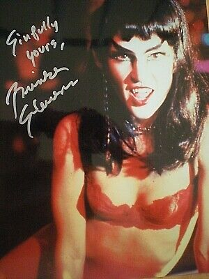 Hand Signed Sexy Photo Brinke Stevens-Vampire -Sinfully Yours-Scream Queen-Coa