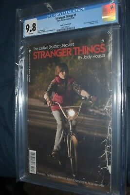 Stranger Things #1 CGC 9.8 Vintage Photo Variant Dark Horse wrap around cover