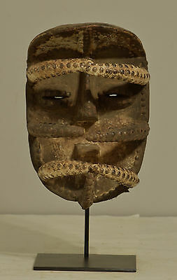 Mask Africa Bete Wood Brass Mask Cote d'Ivorie Magic Dancing Warrior Mask