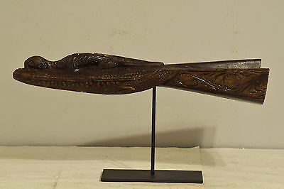 Papua New Guinea Canoe Prow Alligator Canoe Prow Carved Wood River Canoe Prow