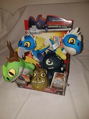 HOW TO TRAIN YOUR DRAGON Defender of Berk BUDDIES CASE x7 Nadder Plush RARE NEW