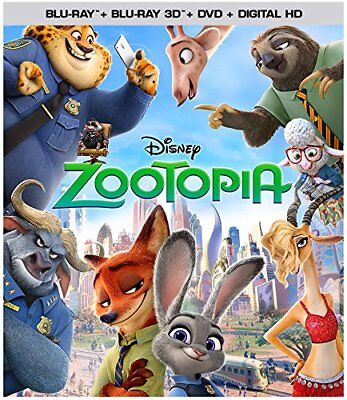 Very RARE Zootopia 3D Blu-ray DVD 2016