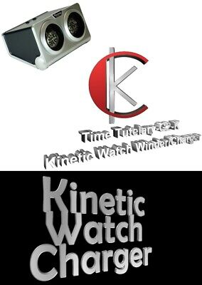 Luxury Display Dual Automatic Kinetic Watch Winder/Charger: Time Tutelary-G2-K