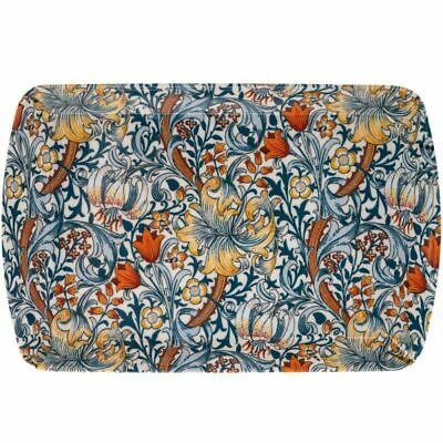 New William Morris Blue Golden Lily Small Deep Base Melamine Snack Tray