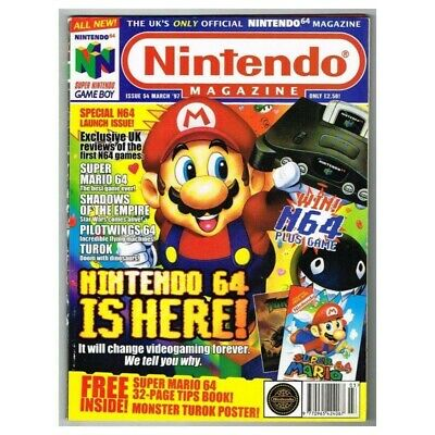 Nintendo Magazine System Magazine No.54 March MBox3520/H Nintendo 64 is Here!