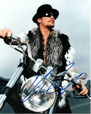 **KID ROCK on his Harley Autograph Signed in Blue Sharpie 8 X 10 Photograph**COA