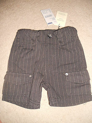 Baby boys Size 6-12mths   Pumpkin Patch  stripe cargo shorts  Size 0  BNWT