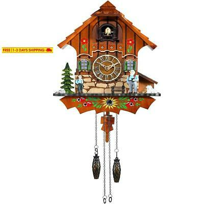 Kintrot Cuckoo Clock Black Forest Antique Clock Quartz Pendulum Wall Clock Home