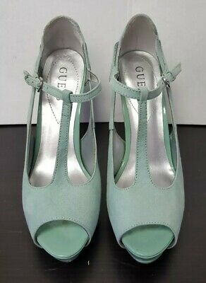 fe7ffd0f1f9 MINT!!! BY GUESS Buckle Strappy Peep Toe Platform High Heel Sz 10 M ...