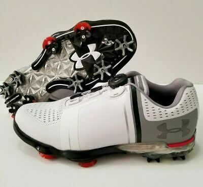 743e6cb952f1 Under Armour UA Spieth One BOA White Gray Laceless Golf Shoes 1292754-100  SZ 7