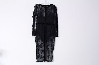 Missguided Navy Lace Midi Dress Size 8 Us 4125 Picclick