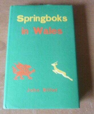 Springboks in Wales - Autographed (South Africa) Book by John Billot (1974).