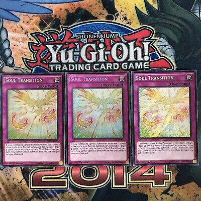 3X Soul Transition SECE-EN078 Secret Rare 1st Edition (NM/MINT) 2014 YuGiOh!