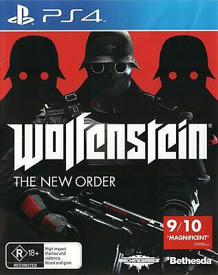 Wolfenstein The New Order PlayStation 4 PS4 Brand New Game