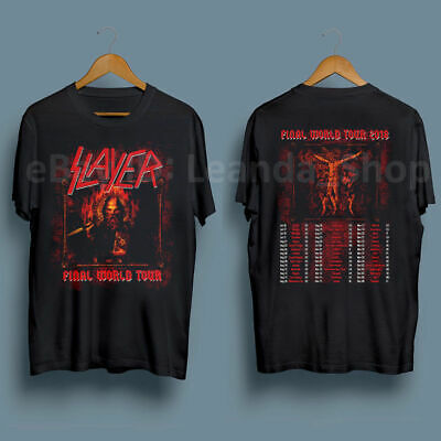 Slayer Final World Tour 2018 Tee 2nd & 3rd Leg July-December T Shirt Size S-5XL