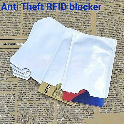 Anti Theft RFID Blocking Secure Sleeve Credit Card Holder Protector Case Shield