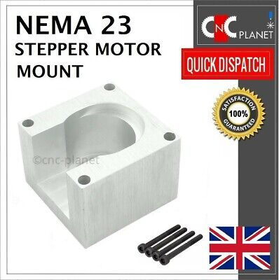 Nema 23 57mm Stepper Motor Mount Aluminum Bracket + Screw CNC 3D Printer UK FAST