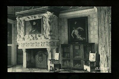Fireplace postcard France Chenonceau Chambre of Diane