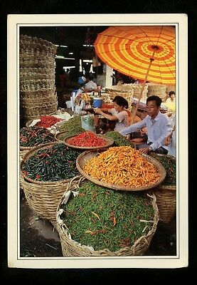 Food Related postcard Chili Peppers in Thailand Market Thai Food