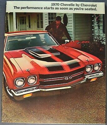 1970 Chevrolet Chevelle Brochure SS 396 454 Malibu Excellent Orig Not a Reprint
