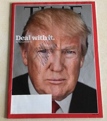 President Donald Trump Signed Autographed Deal With It Time Magazine  *SALE*
