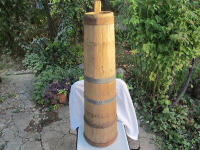 Old Antique Primitive Wooden Big Massive Butter Churn For Hand Making Butter