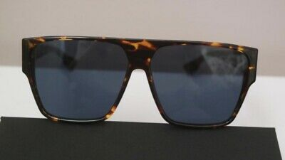 aba128f2a9 Christian Dior Hit P65 A9 Sunglasses Brown Dark Havana Frame Blue Lenses  62mm