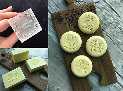 Custom made Soap Mold Stamp Personalized Logo Embosser Handmade Acrylic Glass