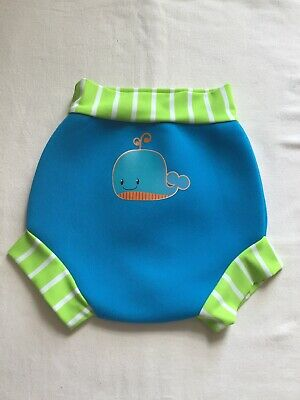 Boys  Age 12-18 Months Swim Pants Mothercare Green/blue Whale Motif Design