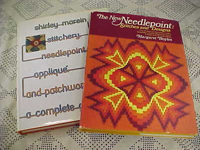Needlepoint Books Lot of 2 Stitchery Needlepoint The New Needlepoint Boyles