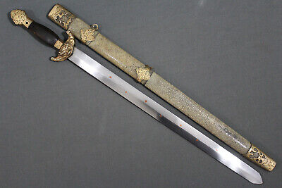 Chinese short jian sword with 7 stars inlay - China, 19th century